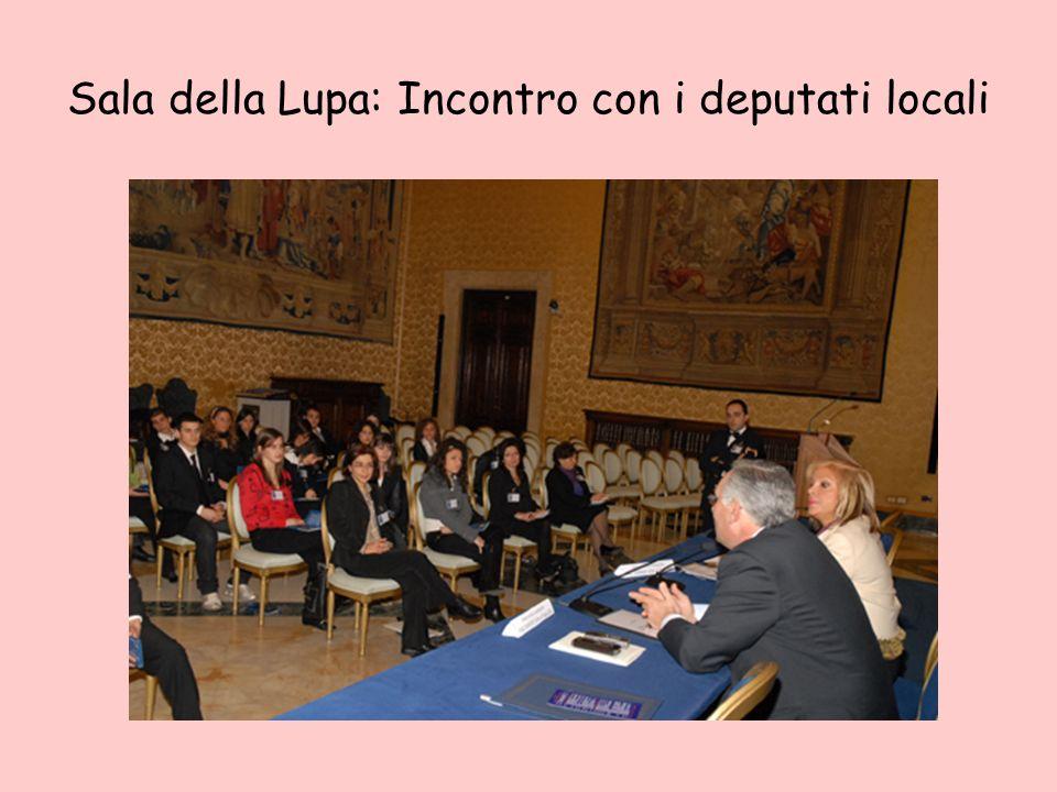 Sala della Lupa: Incontro con i deputati locali