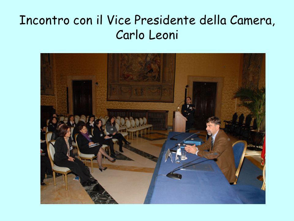 Incontro con il Vice Presidente della Camera, Carlo Leoni