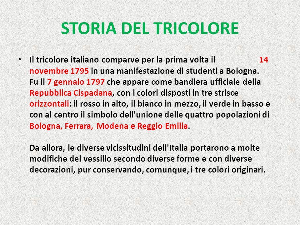 STORIA DEL TRICOLORE
