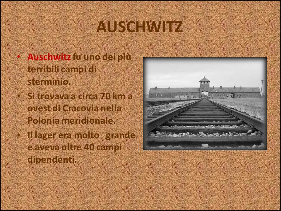 AUSCHWITZ Auschwitz fu uno dei più terribili campi di sterminio.