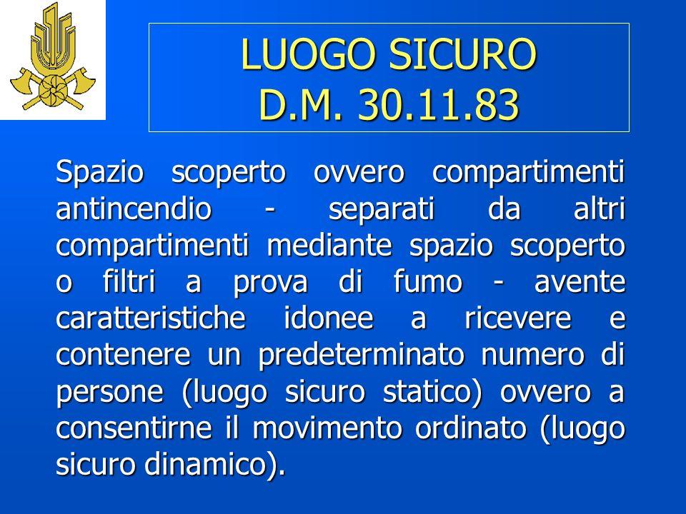 LUOGO SICURO D.M. 30.11.83