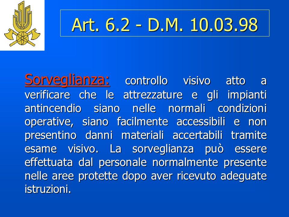 Art. 6.2 - D.M. 10.03.98