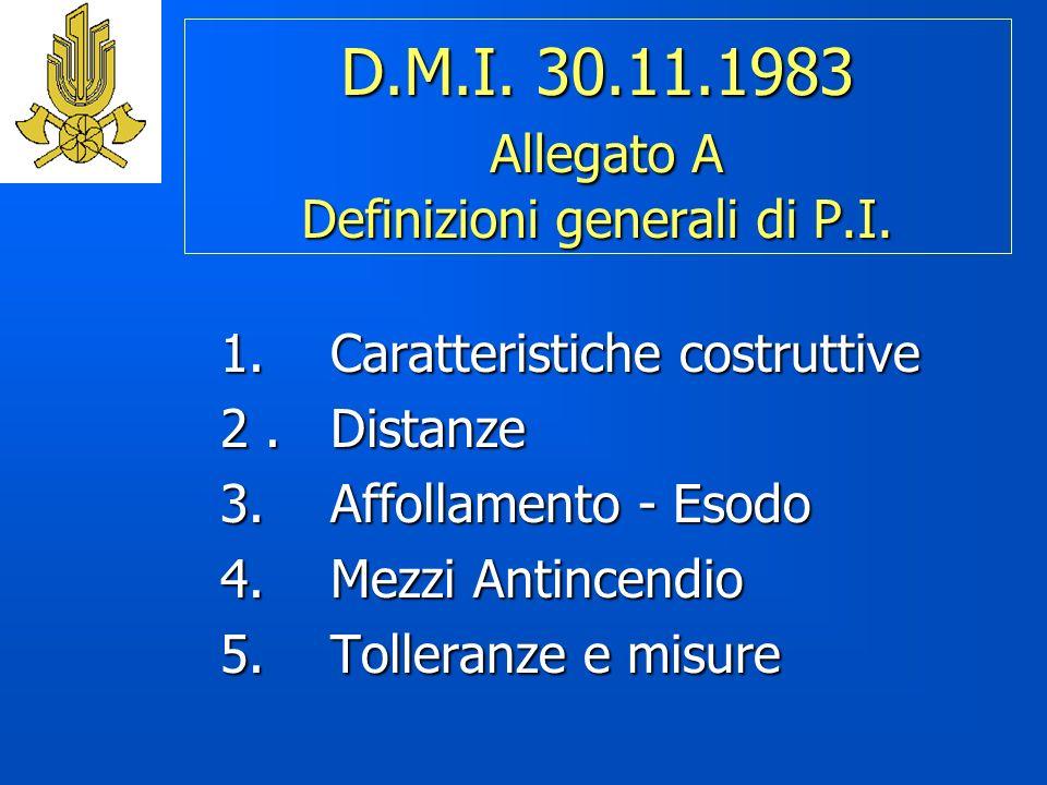 D.M.I. 30.11.1983 Allegato A Definizioni generali di P.I.