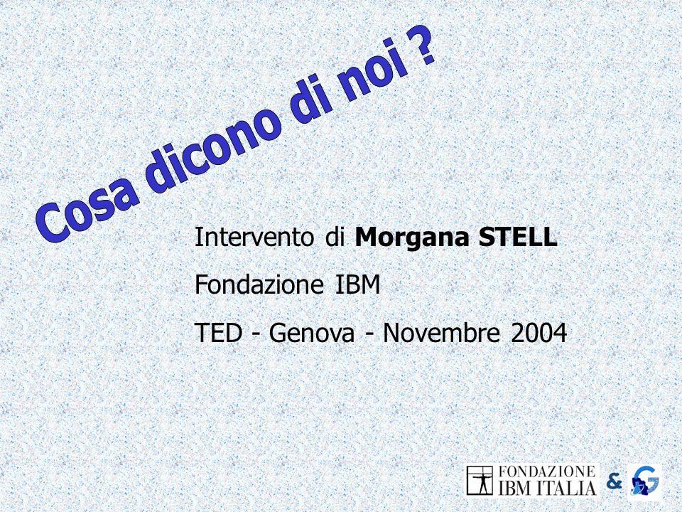 Cosa dicono di noi Intervento di Morgana STELL Fondazione IBM