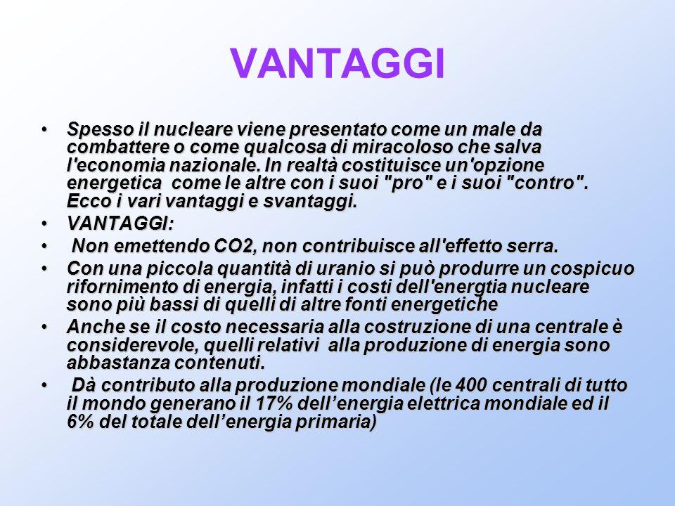 VANTAGGI