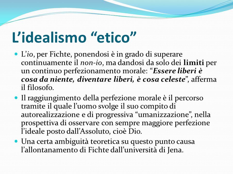 L'idealismo etico