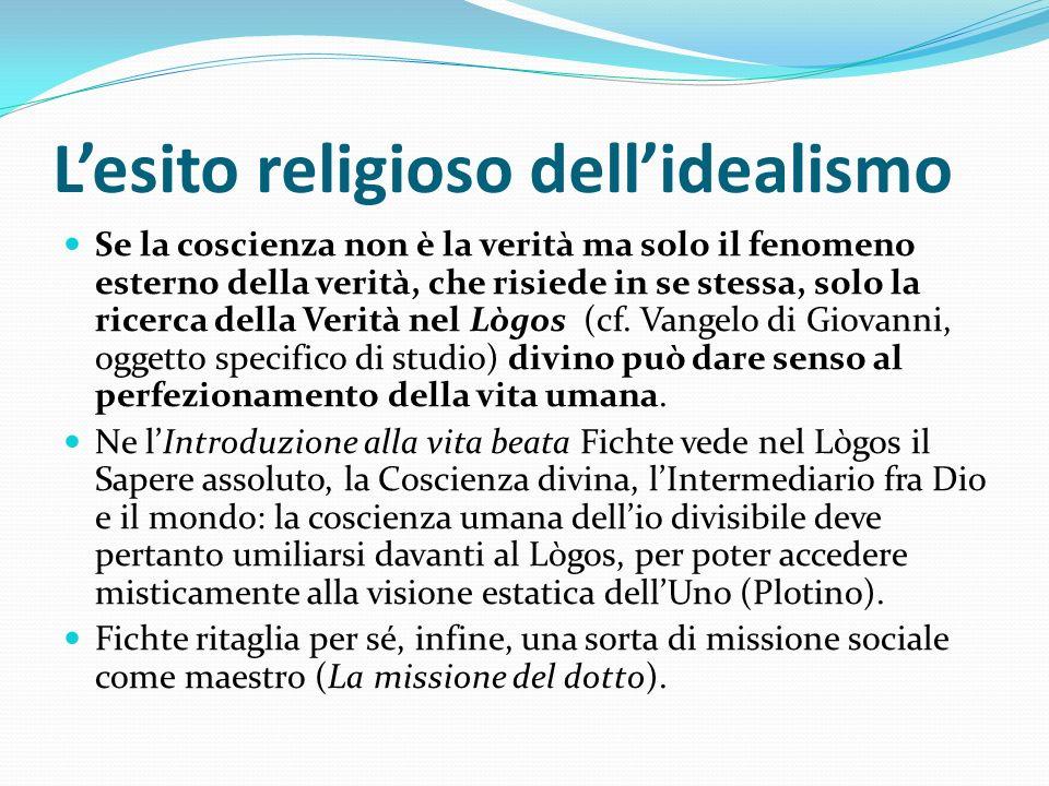 L'esito religioso dell'idealismo