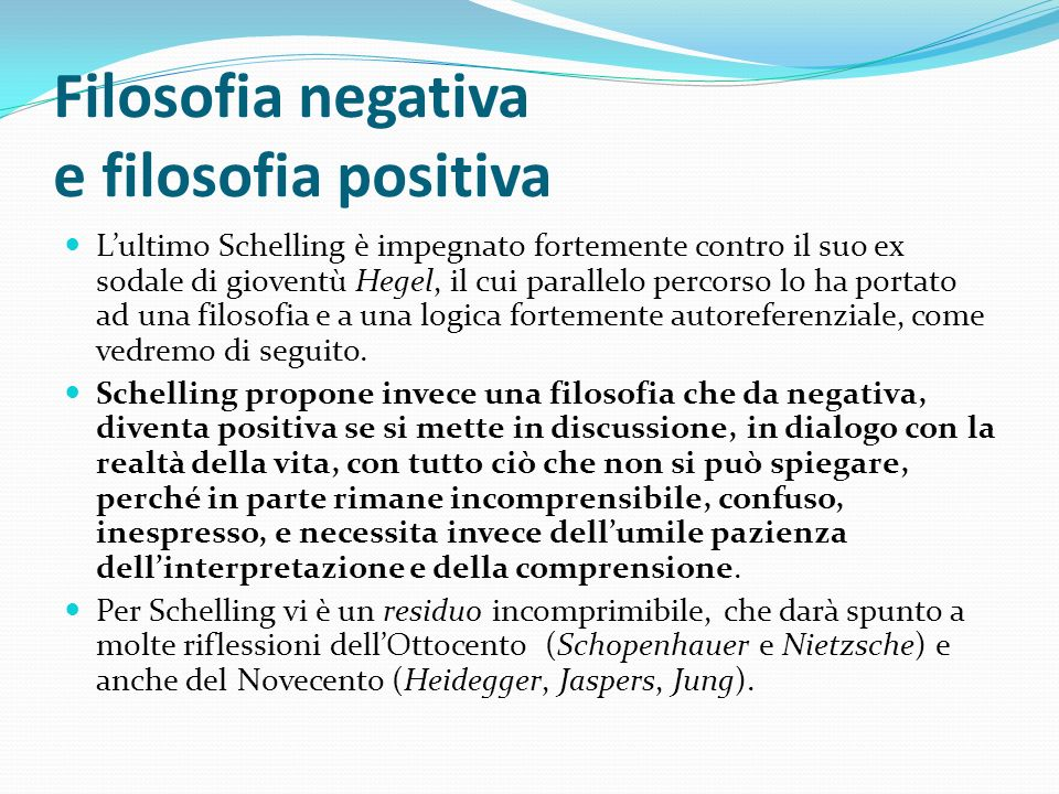 Filosofia negativa e filosofia positiva
