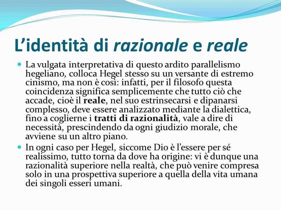 L'identità di razionale e reale