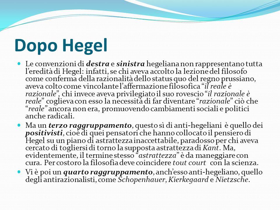 Dopo Hegel