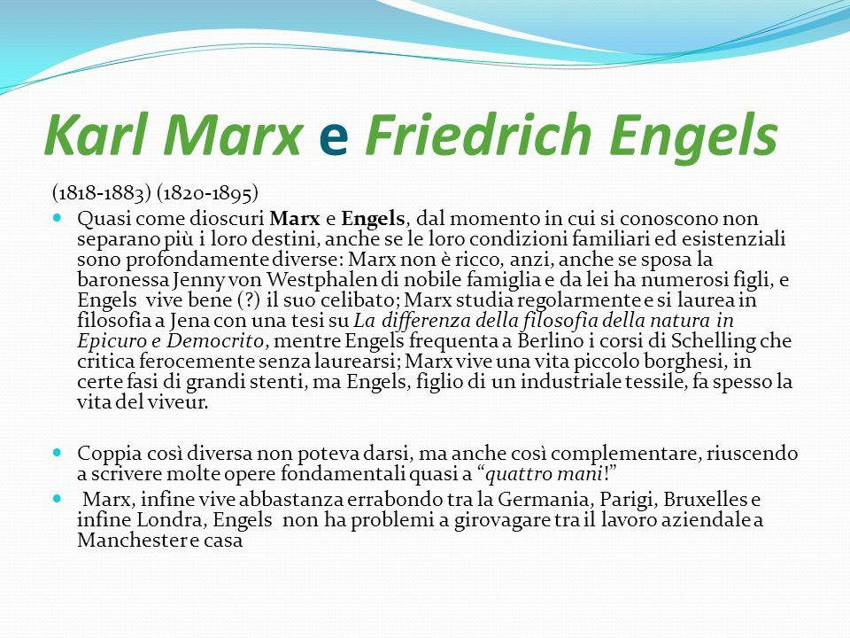 Karl Marx e Friedrich Engels