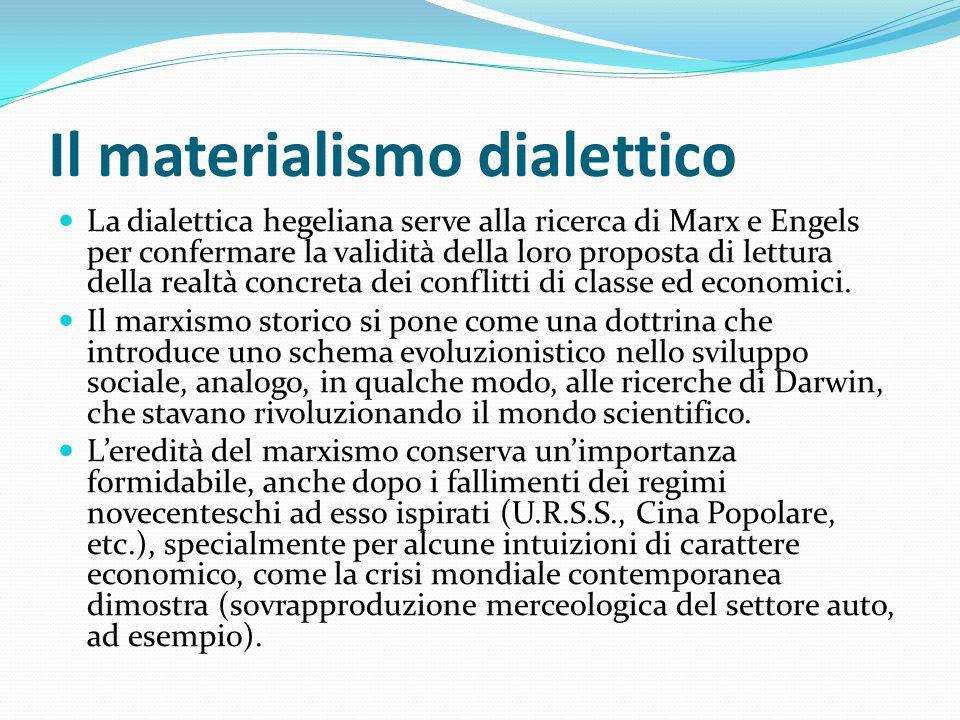 Il materialismo dialettico