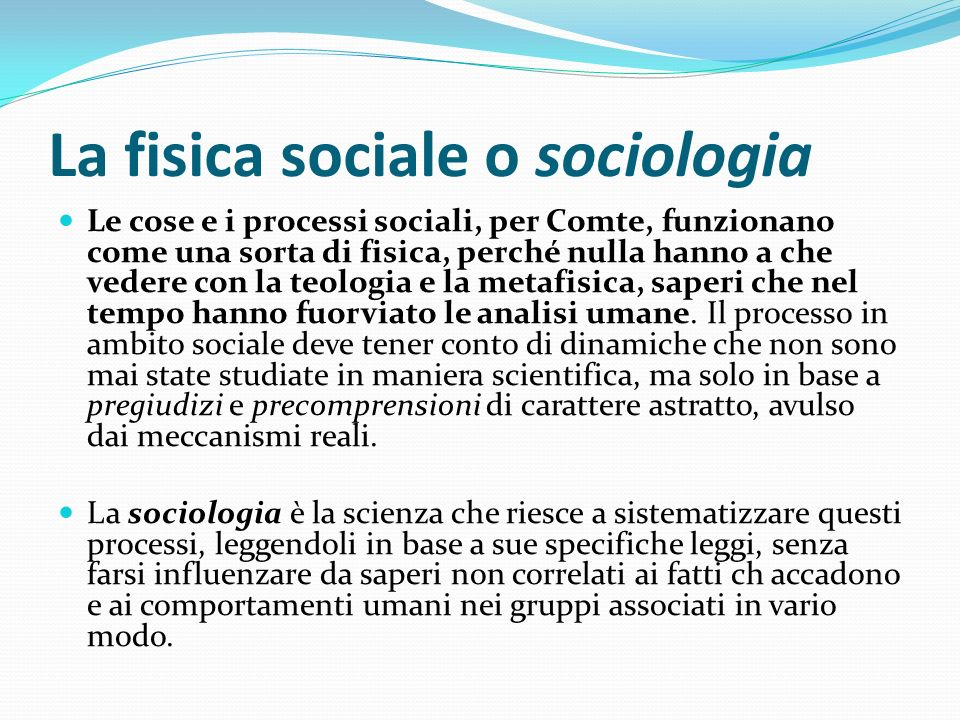 La fisica sociale o sociologia