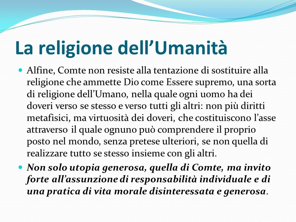 La religione dell'Umanità