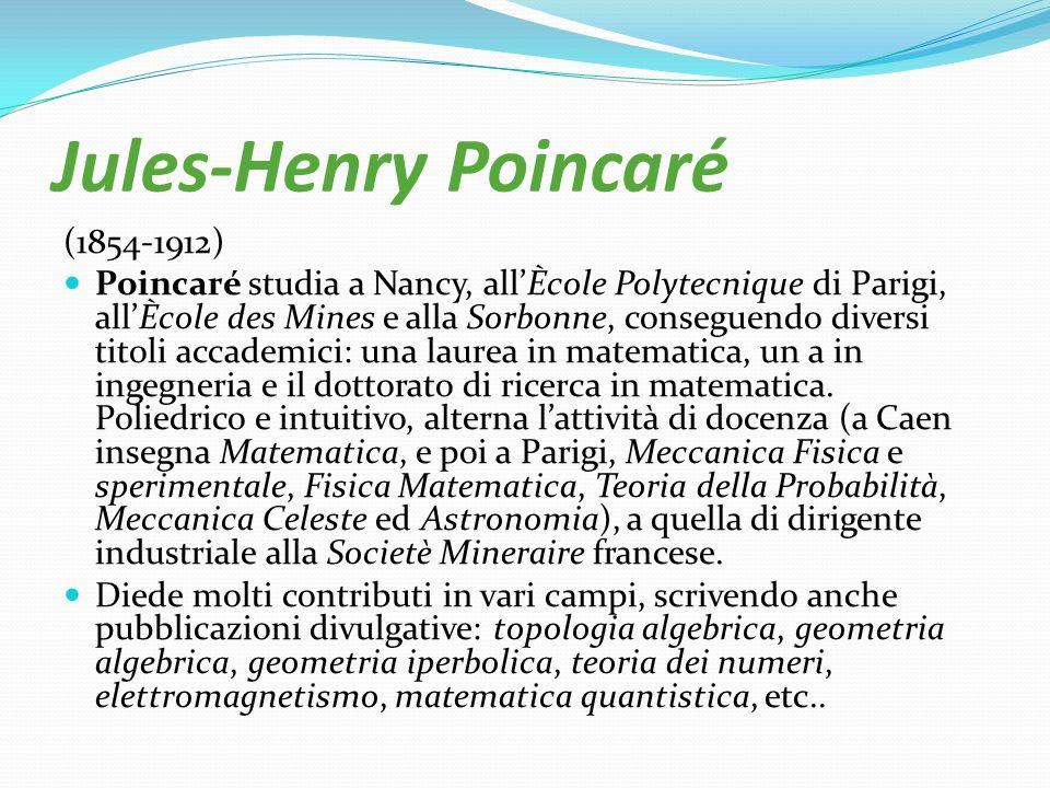 Jules-Henry Poincaré (1854-1912)