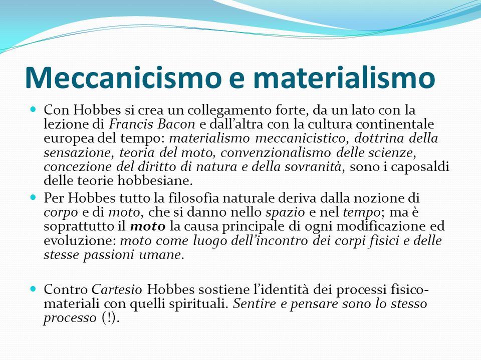 Meccanicismo e materialismo