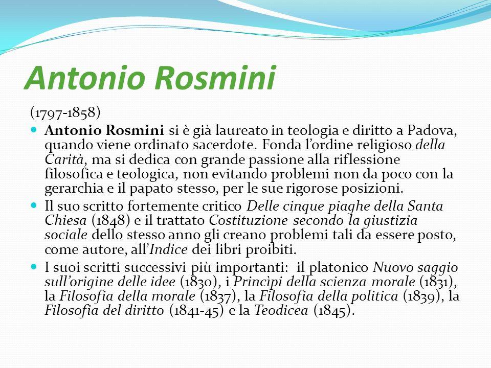 Antonio Rosmini (1797-1858)