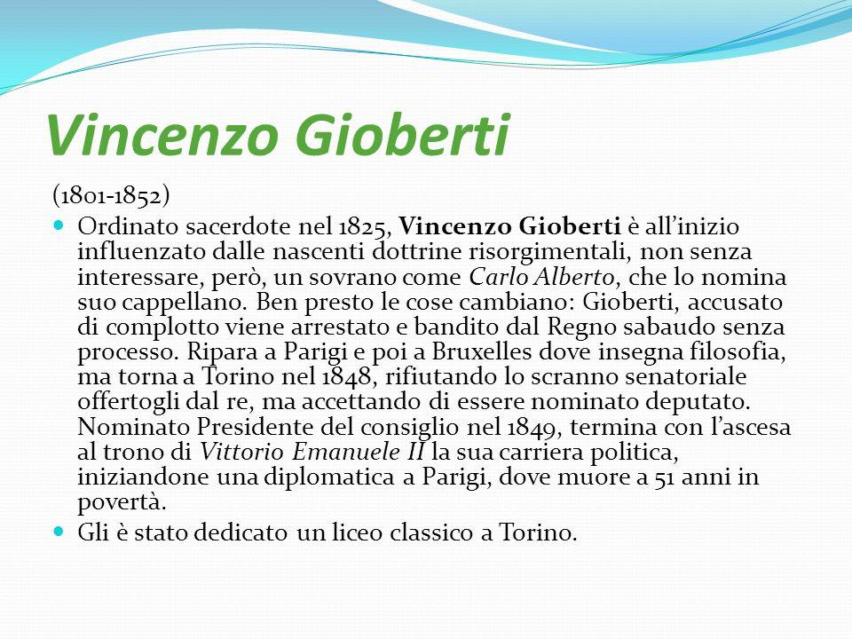 Vincenzo Gioberti (1801-1852)