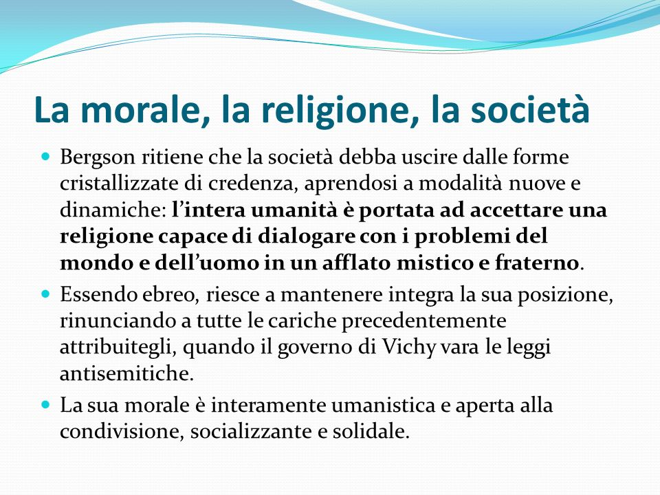 La morale, la religione, la società