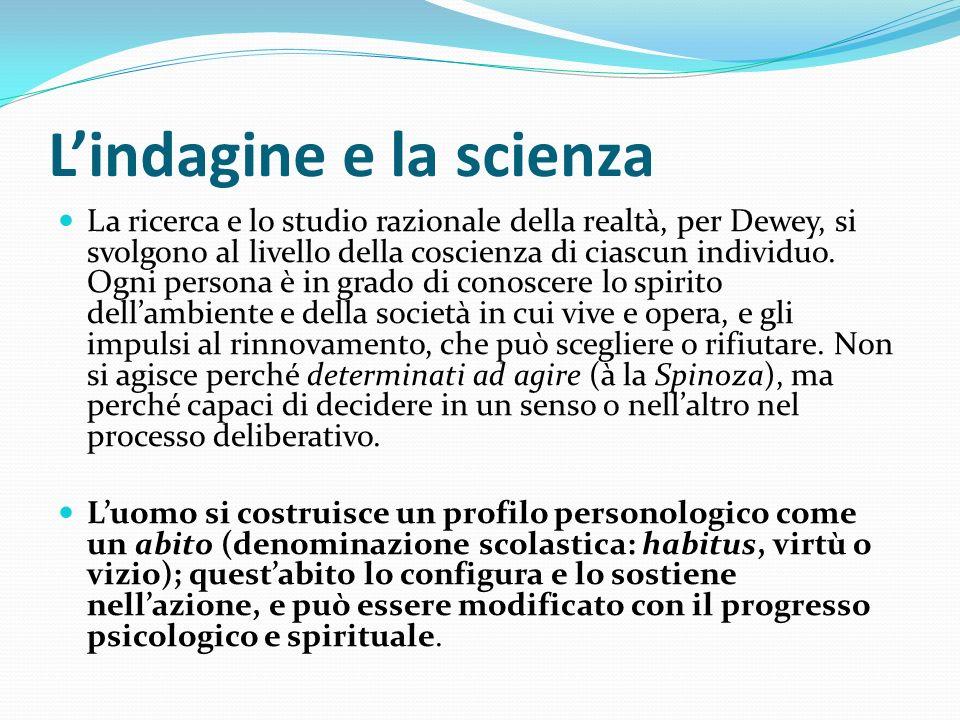 L'indagine e la scienza