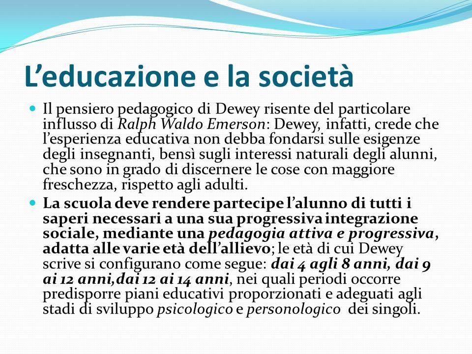 L'educazione e la società