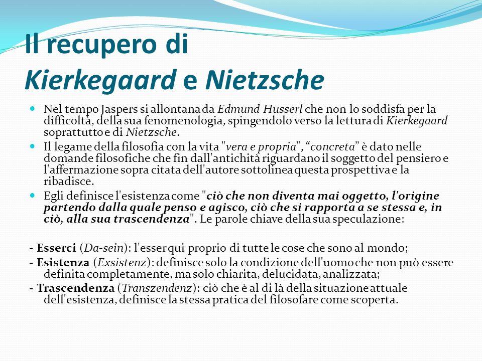 Il recupero di Kierkegaard e Nietzsche