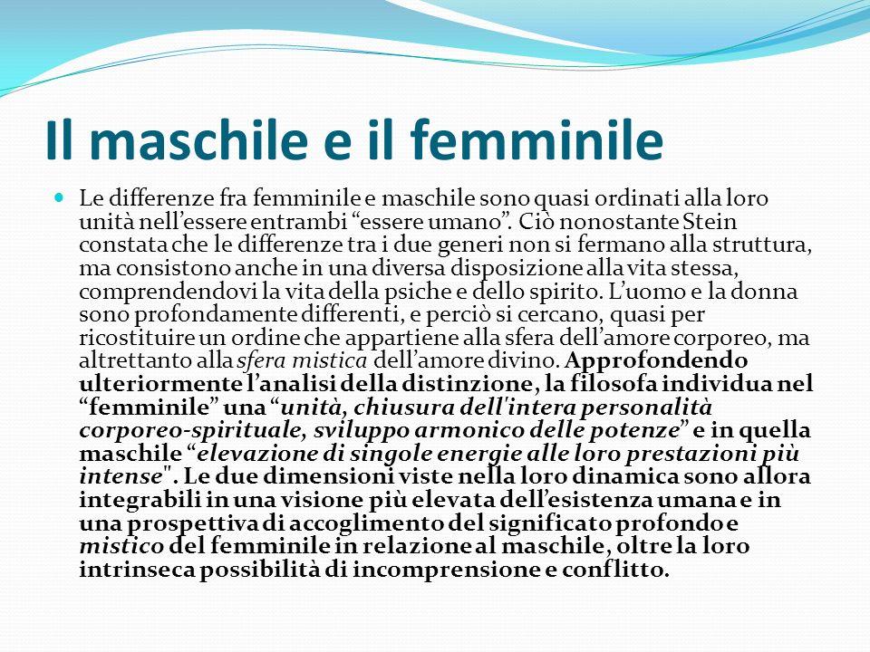 Il maschile e il femminile