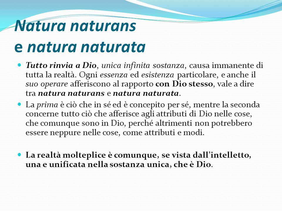 Natura naturans e natura naturata