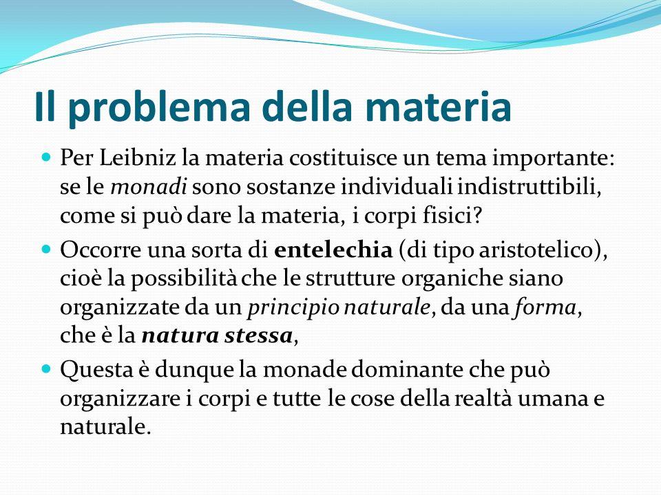 Il problema della materia
