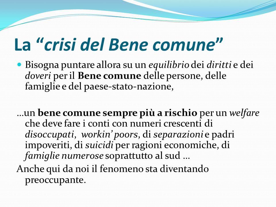 La crisi del Bene comune