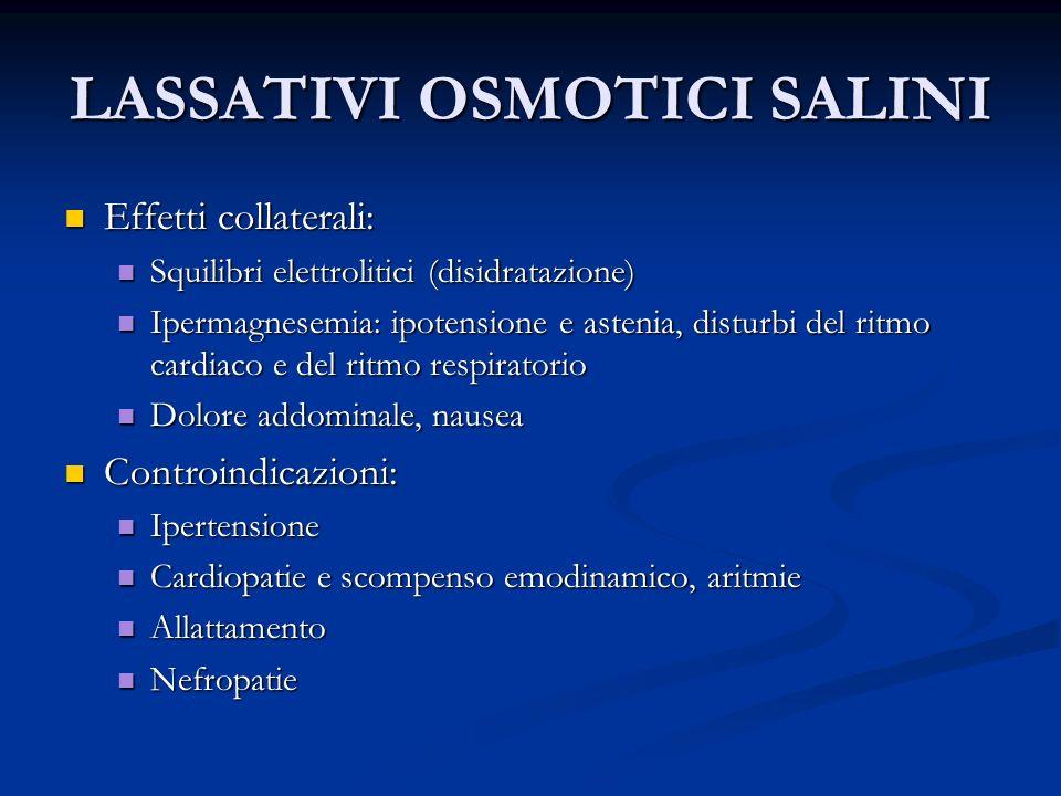 LASSATIVI OSMOTICI SALINI