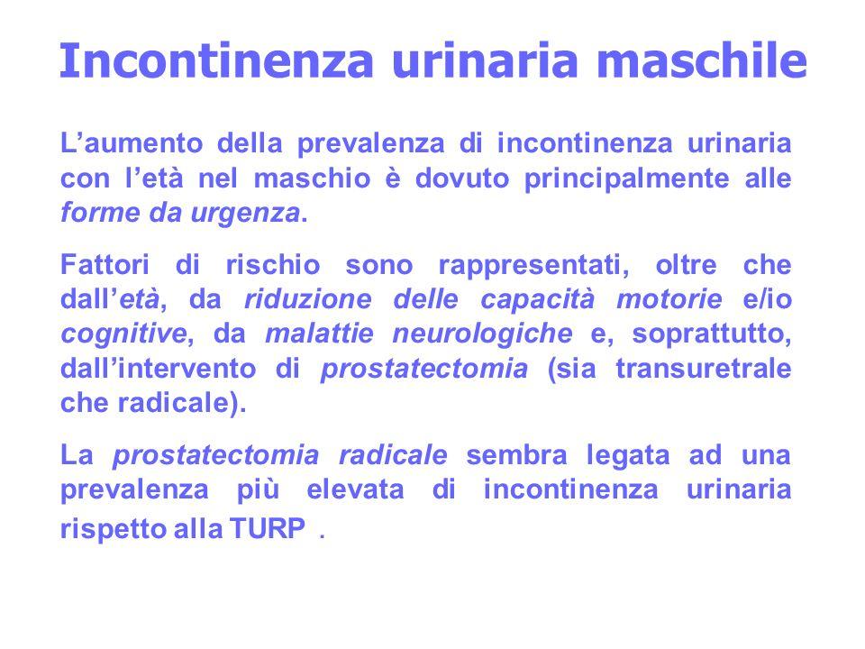 Incontinenza urinaria maschile