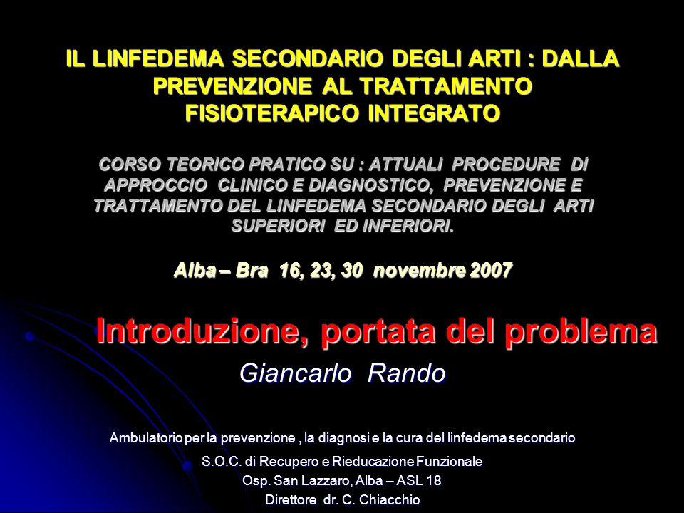 Introduzione, portata del problema Giancarlo Rando