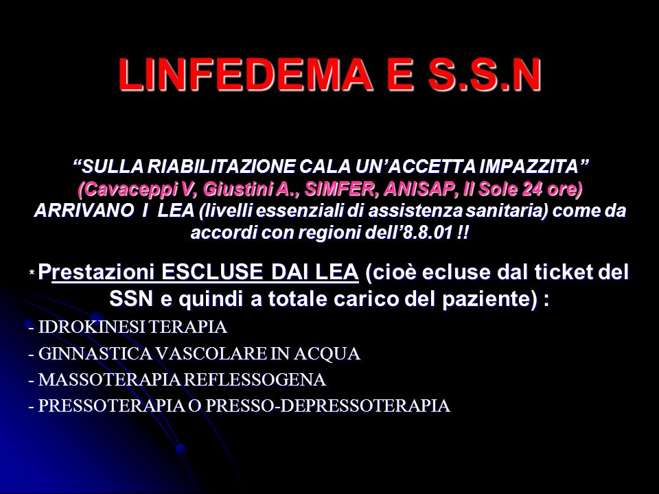 LINFEDEMA E S.S.N