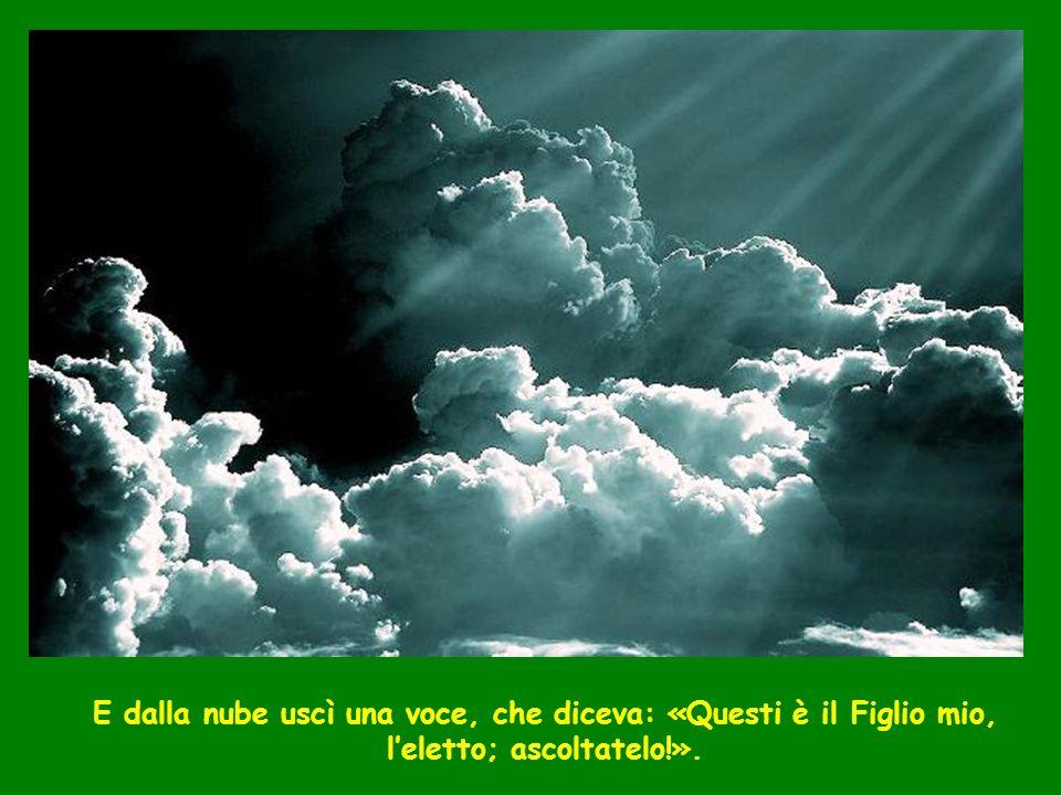 E dalla nube uscì una voce, che diceva: «Questi è il Figlio mio, l'eletto; ascoltatelo!».