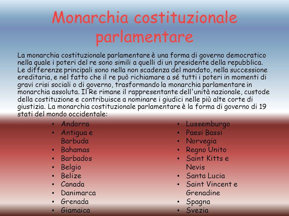 Monarchia costituzionale parlamentare