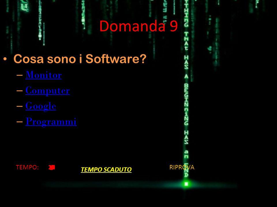 Domanda 9 Cosa sono i Software Monitor Computer Google Programmi