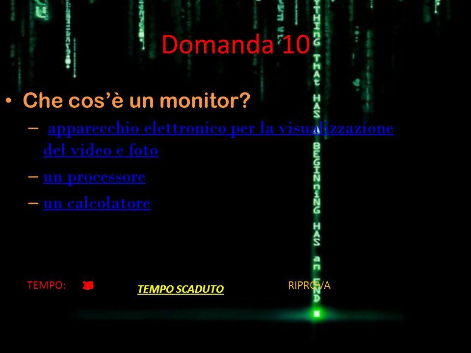 Domanda 10 Che cos'è un monitor