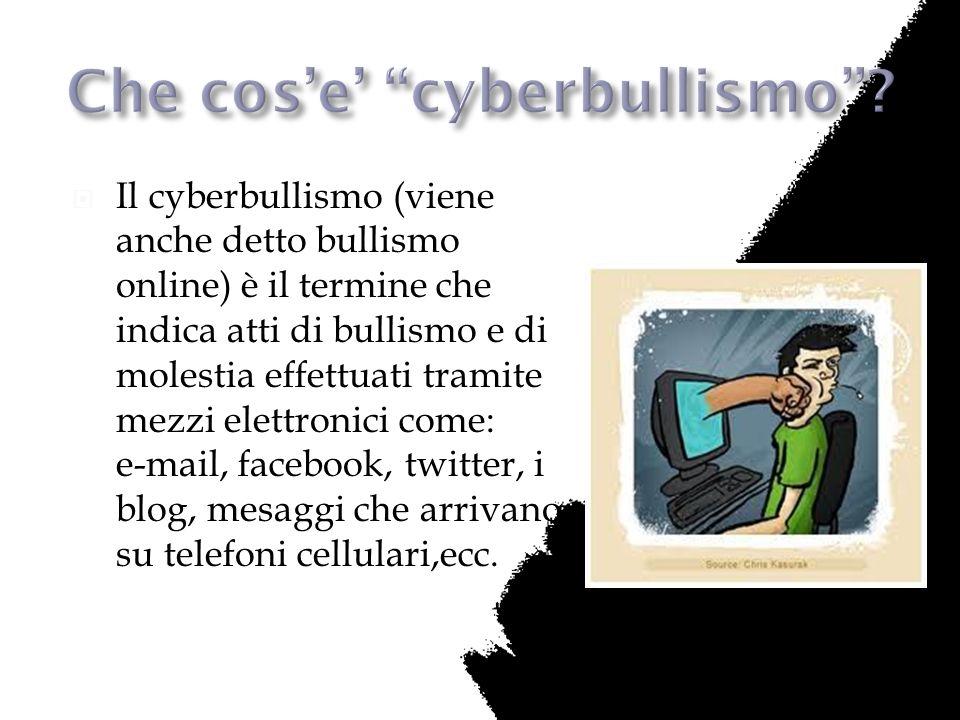 Che cos'e' cyberbullismo