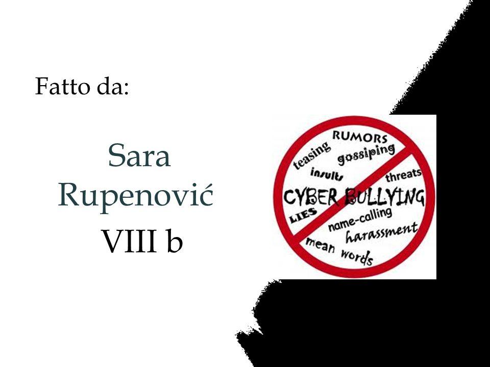 Fatto da: Sara Rupenović VIII b