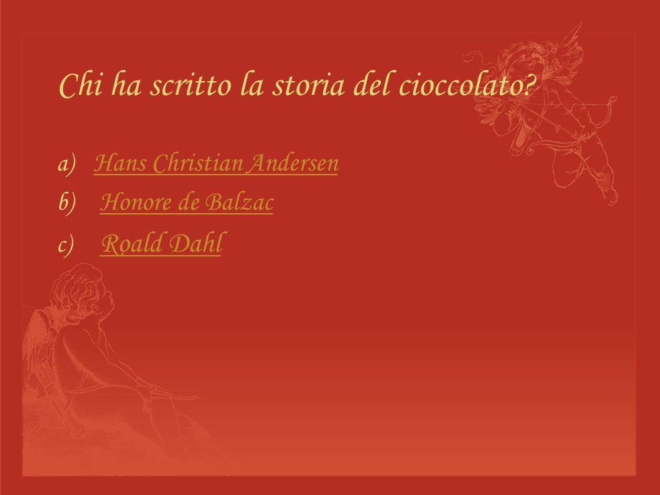 Chi ha scritto la storia del cioccolato
