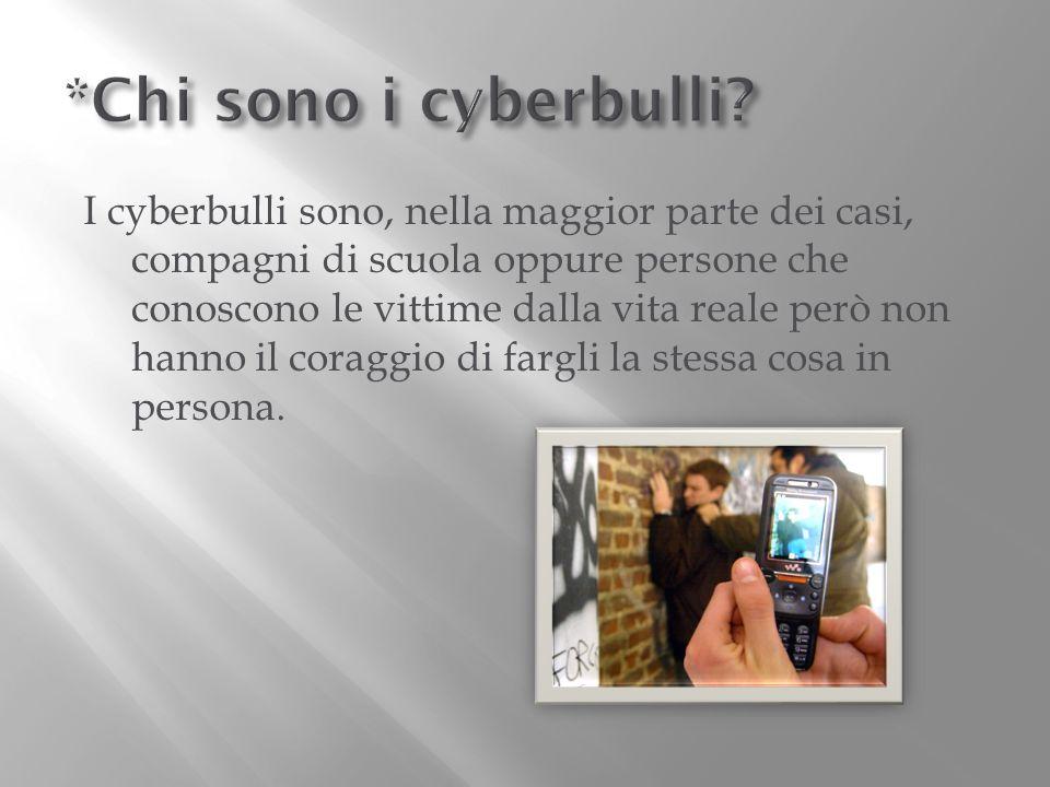 *Chi sono i cyberbulli