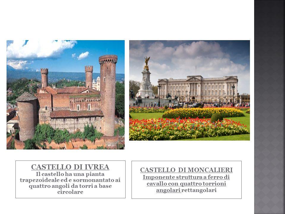 CASTELLO DI IVREA Il castello ha una pianta trapezoideale ed e sormonantato ai quattro angoli da torri a base circolare