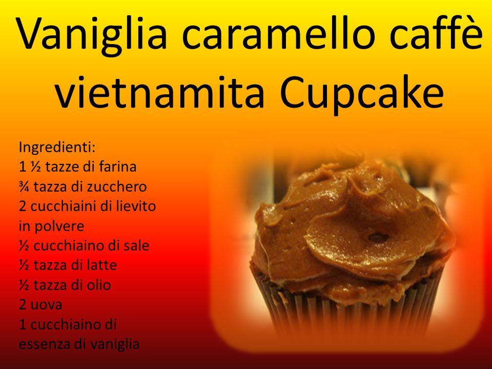 Vaniglia caramello caffè vietnamita Cupcake