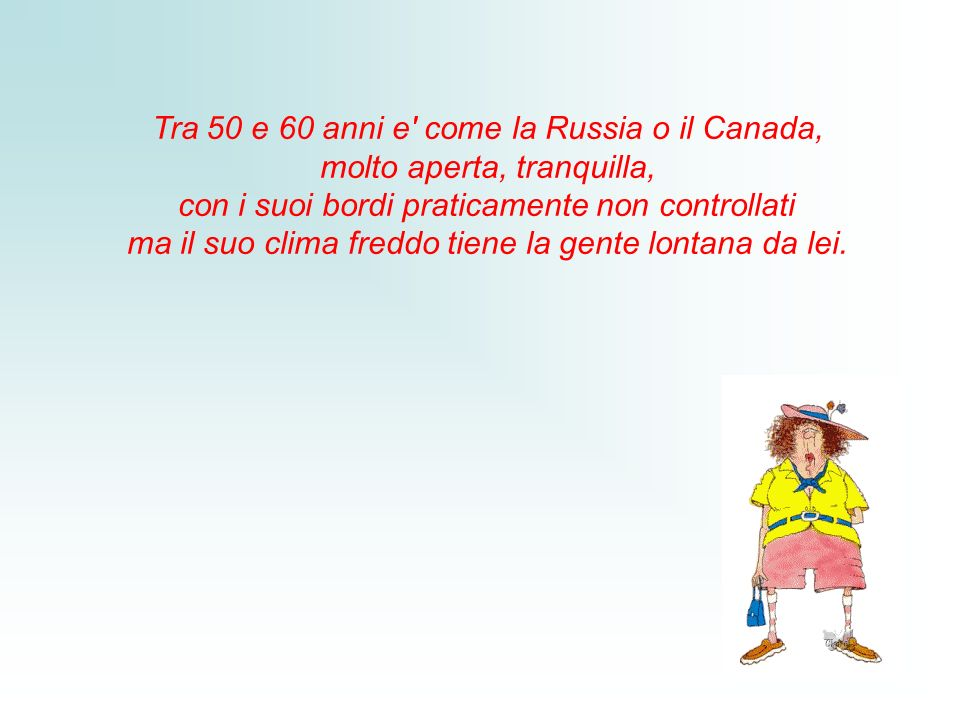 Tra 50 e 60 anni e come la Russia o il Canada,