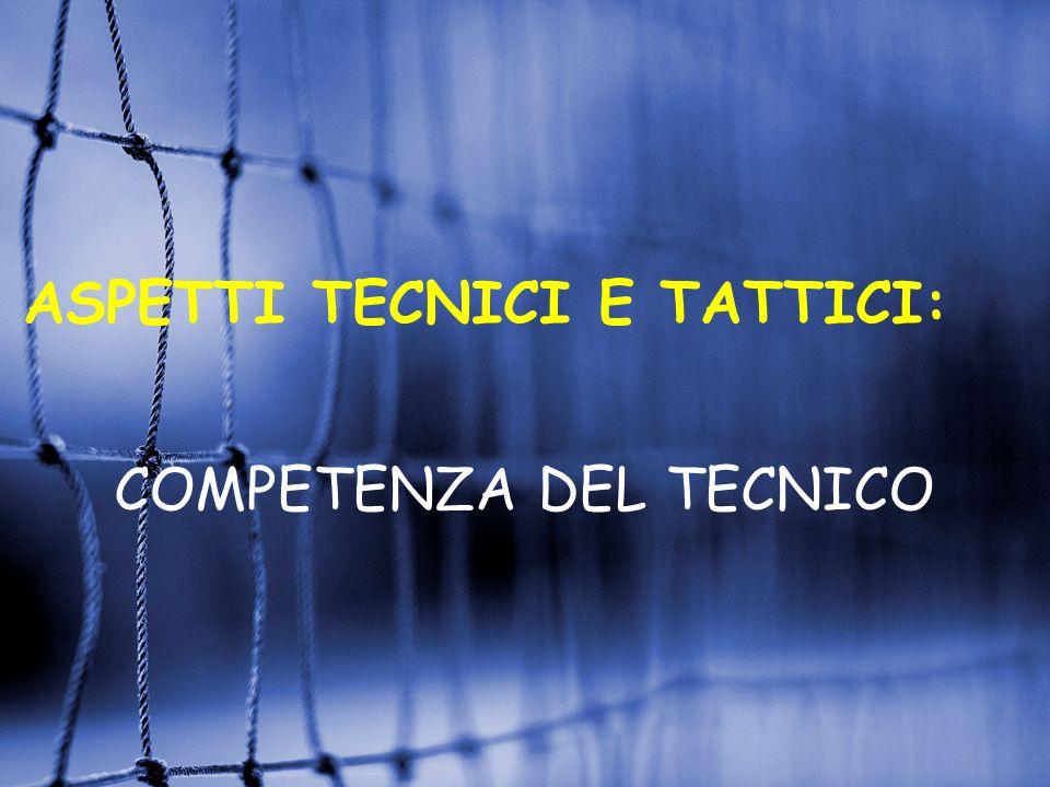 ASPETTI TECNICI E TATTICI: