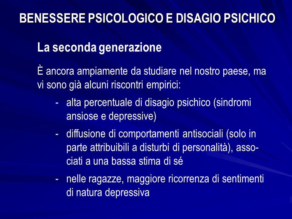 BENESSERE PSICOLOGICO E DISAGIO PSICHICO