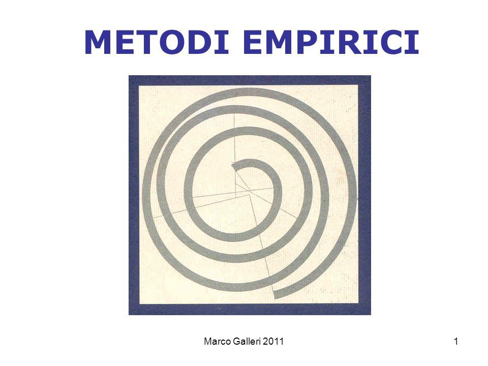 METODI EMPIRICI Marco Galleri 2011