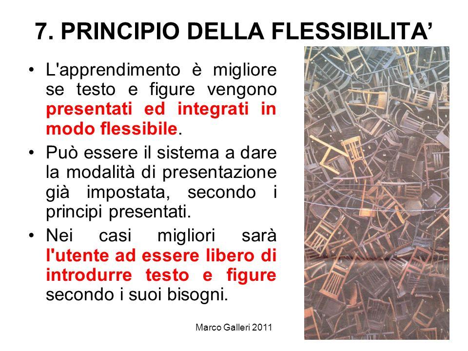 7. PRINCIPIO DELLA FLESSIBILITA'