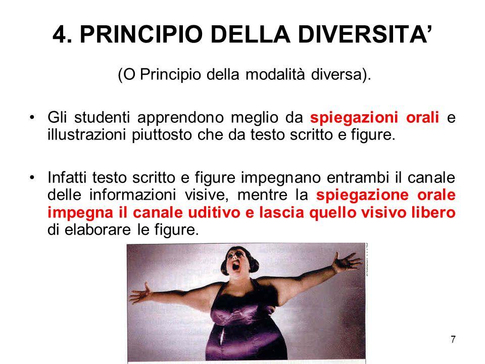 4. PRINCIPIO DELLA DIVERSITA'
